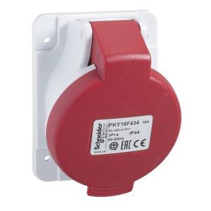 CEE Anbausteckdosen Schneidklemmen, 16A, 2p+E, 380-415 V AC