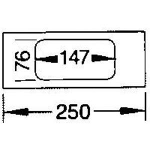 Blende 2-fach R18 PVC FB OT 130 cweiß