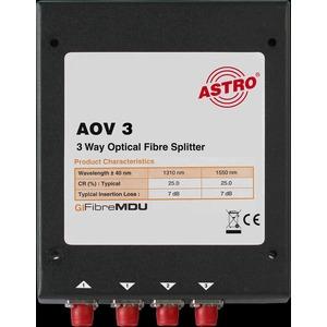 AOV 3, Optischer 3-fach Verteiler, ca. 5,5 dB Verteildämpfung, FC/PC Konnektoren, zur Verwendung in optischen SAT-ZF Verteilsystemen (in Verbindung mit AOF…/