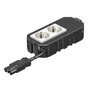 AGB2 1 2W2.5, Anschlussfertiger Gerätebecher mit PVC-Anschlussleitung