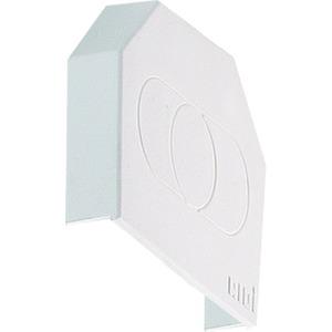 VLTE TRAGSCHIENEN ENDDECKEL, Enddeckel für Tragschiene VLT aus Kunststoff, weiß