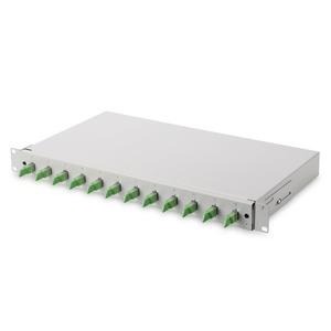 E-2000 Spleißbox, Diamond 12xE2000 (APC) bestückt, Spleisskassette