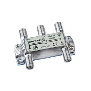 EBC 04, Verteiler 4-fach, 5-1000 MHz, F-Connector, 272 608
