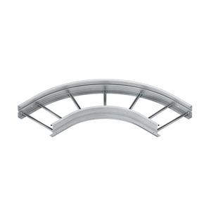 WSBR 150.600, Bogen 90° für WSL, 150x600 mm, rund, gesickt, ungelocht, Stahl, bandverzinkt DIN EN 10346