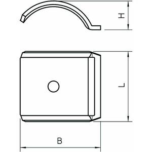 2058FW M 12 A2, Gegenwanne 8-12mm, V2A, A2