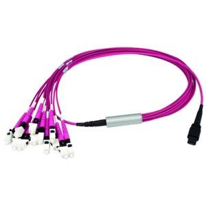 MPO/MTP® PC Aufteilkabel OM4, 12x SC/PC, 1 m