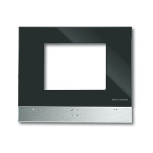 6136/11, Designrahmen, Glas schwarz, Busch-Powernet KNX, Touchpanels