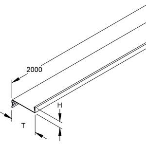 TPS 70, Trennsteg, Höhe 11 mm, Tiefe 70 mm, Länge 1996 mm, Stahl, bandverzinkt DIN EN 10346