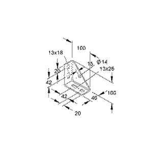TRV 40, Winkelverbinder für Profil U 5050, U 6040, Stahl, feuerverzinkt DIN EN ISO 1461