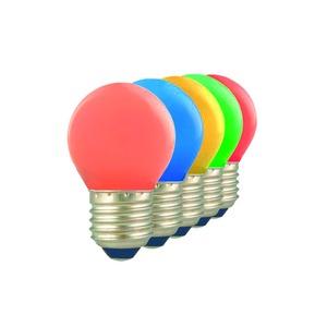 473424, LED Ball E27 1W Blister 5 Colours