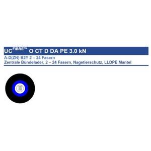 A-DQ(ZN)B2Y 12E9/125 3000N, A-DQ(ZN)B2Y 12E9/125 3000N LWL Aussenkabel mit 12 Fasern OS2 Single