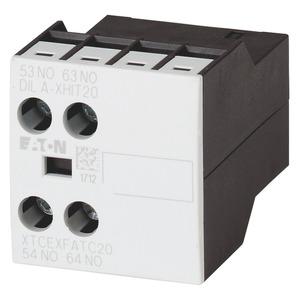 DILA-XHIT02, Hilfsschalterbaustein, hohe Ausführung, 2-polig, 380 V 400 V 415 V: 4 A, 2 Ö, Frontbefestigung, Schraubklemmen
