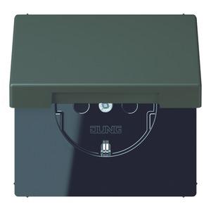 LC 1520 KIKL 4320R, SCHUKO-Steckdose, 16A250V~, Berührungsschutz, Klappdeckel