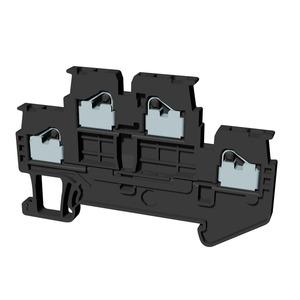 XW5T-P1.5-1.1-2, Reihenklemme, Doppelstock, DIN-Hutschiene, TS 35, 1mm², Push-In Plus, dunkelgrau