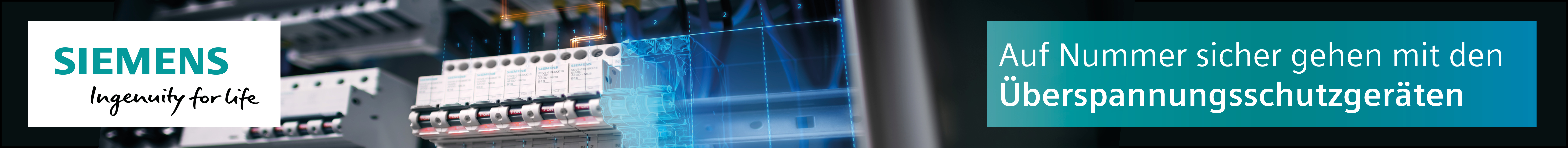Überspannungsschutz von Siemens - lückenlos sicher