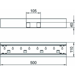 GS-ST70110RW, T-Stück symmetrisch 70x110mm, St, reinweiß, RAL 9010