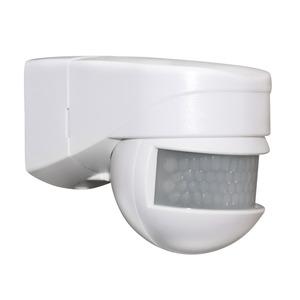LC-Mini 180 weiß, Mini-Außenbewegungsmelder mit einem Erfassungsbereich von 180°