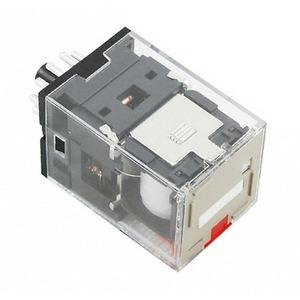 MKS3PIN-5 230VAC, 3 W, 10A, LED und mech. Schaltstellungsanzeige, feststellbare Prüftaste, Pinning nach EN 50005