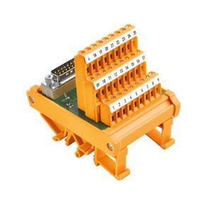 RS SD9S LP3R, Übergabemodul mit Klemme, Steckverbinder, SUB-D-Stecker gemäß IEC 60807-2 / DIN 41652, 9-poliger Stecker, LP3R 5.08mm, Schraubanschluss