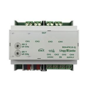 BEA4FK16-Q, KNX quick Binär Ein-/Ausgang 4-fach, Kontaktabfrage, 6 TE  Schaltleistung 16A 250 VAC, C-Last 200µF
