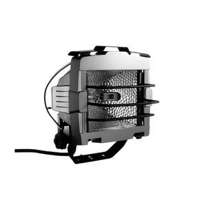 HAST 500 AL-s, Halogenstrahler schwarz mit Anschlussleitung für Stativ u. Leuchtmittel 150-500W