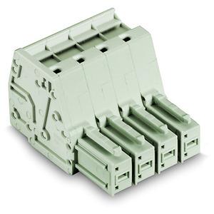 831-3105, 1-Leiter-Federleiste 10 mm² Rastermaß 7,62 mm 5-polig lichtgrau