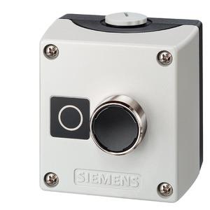 3SB3801-0DE3, Gehäuse für 22mm Prog. Kunststoffausf. 1 Befehlsstelle grau ohne Schutzkragen