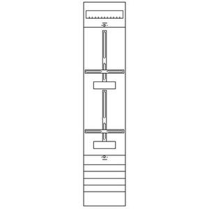1ZF42, Zählerfeld BH4 1-Feld nicht verdrahtet mit Zählerkreuz