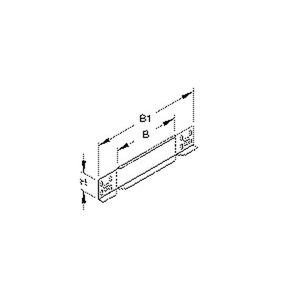 RA 60.200, Reduzier-/Abschlussstück für KR, 60x200 mm, Stahl, bandverzinkt DIN EN 10346, inkl. Zubehör