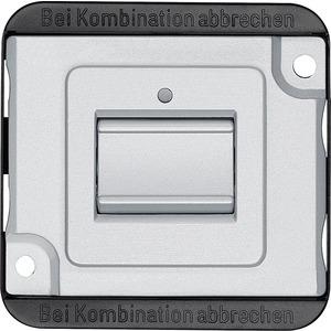 Aus/Wechsel-Kontrollschalter-Eins. 1-pol. 10 AX,AC 250 V,mattsilber,PANZER,StK