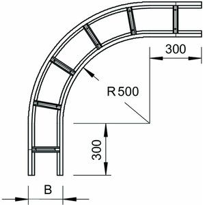 WLB 90 165 FS, Bogen 90° für Weitspannkabelleiter 160 160x500, St, FS