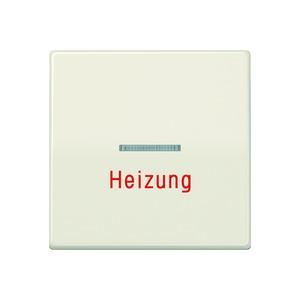 AS 591 HBF, Wippe, Linse, Lichtleiter, Aufschrift Heizung, Zentralplatte, bruchsicher, für Wipp-Kontrollsch., Tast-Kontrollsch. und beleucht. Taster