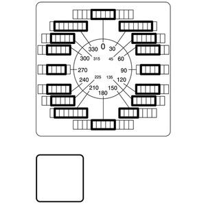 FS(*)-P3, Frontplatte, verwendbar für T5B, T5, P3, 84 x 84 (für Rahmen 88 x 88) mm, gravierbar