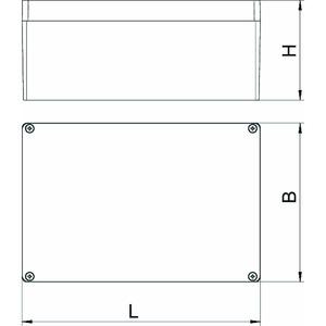 Mx 261609 SGR, Aluminiumleergehäuse 260x160x90, AlG, P, silbergrau, RAL 7001