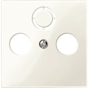Zentralplatte für Antennensteckdosen, weiß glänzend, System M