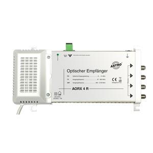 AORX 4 R, Optischer Empfänger zum direkten Anschluss von bis zu 4 Receivern / TV-Geräten, Ausgangsfrequenzen 87 - 862 / 950 - 2150 MHz, optischer SC/APC-Konnekt