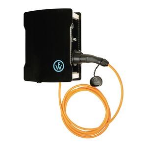 Wallbox EVOLUTION 350 KEY mit angeschlossener Ladeleitung und Ladekupplung Typ2 16A/3,7kW und Basis-Monitoring-98701014