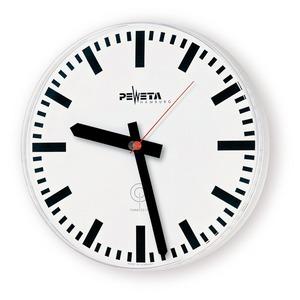 Funkuhr 230 V für innen, Ø 415 mm, Zifferblatt weiß, DIN-Balkenziffern
