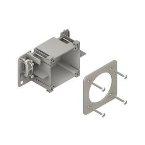 HCED80, CEE-Geräteeinbaudose, 71x83x52 mm, Kunststoff PA, Farbe grau