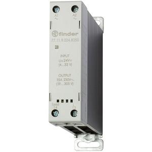 77.11.9.024.8250, Relais mit 1 SSR-Kontakt 15 A/24 bis 277 V AC, Einschaltstrom bis 400 A für 10 ms, Eingang 4 bis 32 V DC