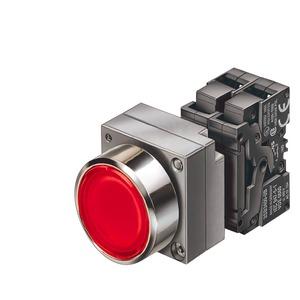 3SB3647-0AA51, Leuchtdrucktaster, 22mm, rund blau