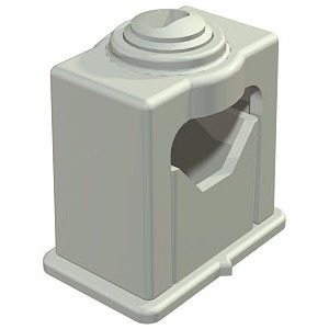 3040 LGR, Greif-ISO-Schelle 6-16mm, PS, lichtgrau, RAL 7035