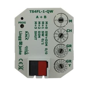 TS4FL-1-QW, KNX quick Tasterschnittstelle, für Wippe 2-fach mit LEDs, mit Systemstecker