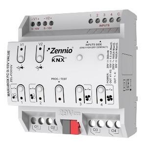 ZCL-FC010V, Zennio Fan-Coil Controller für 2-Rohr oder 4-Rohr Fan-Coils mit 0-10 VDC Ventilen und bis zu 4 Lüfter-Geschwindigkeiten