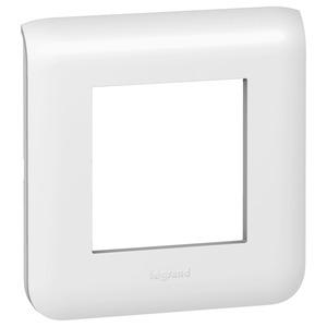 Abdeckrahmen 2 modulig, zur Verwendung mit Tragringen Best.Nr. 0802 51/60/61/62/69. Farbe: weiß