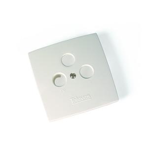 Abdeckplatte für 3-fach Antennendose reinweiss