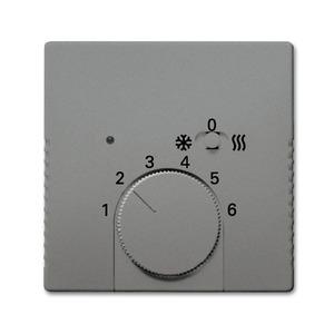 1795 HKEA-803, Zentralscheibe, graumetallic, SI/Reflex SI, Bedienelemente für Raumtemperaturregler