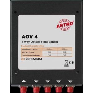 AOV 4, Optischer 4-fach Verteiler, ca. 7 dB Verteildämpfung, FC/PC Konnektoren, zur Verwendung in optischen SAT-ZF Verteilsystemen (in Verbindung mit AOF…/ A