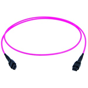 MPO PC female Patchkabel, violett, G50/125 OM4, 1 m