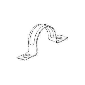 736/23, Befestigungsschelle, zweilappig, Pg 16, Kabel-Ø 23 mm, Stahl, bandverzinkt DIN EN 10346